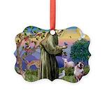 St Francis & Aussie Picture Ornament