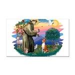 St Francis #2/ Basenji Rectangle Car Magnet