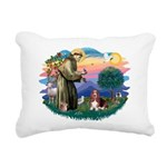 St.Francis #2/ Basset Hound Rectangular Canvas Pil