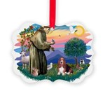 St.Francis #2/ Basset Hound Picture Ornament