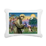 St Francis/Beagle Rectangular Canvas Pillow