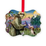 St Francis/Beagle Picture Ornament