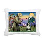 St. Francis & Beardie Rectangular Canvas Pillow