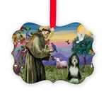 St. Francis & Beardie Picture Ornament