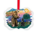 St.Francis #2/ Belgian Shep Picture Ornament