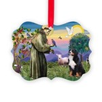 St Francis/Bernese Picture Ornament
