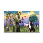 St Francis/Bernese Rectangle Car Magnet