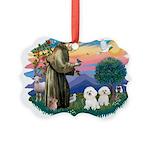 St Francis #2/ Bichon (2) Picture Ornament