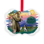 St Francis #2/ Boston Ter Picture Ornament