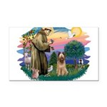 St Francis #2/ Briard (f) Rectangle Car Magnet