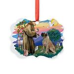 St.Francis #2/ Bull Mastiff Picture Ornament