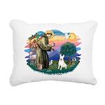 St.Francis #2/ Bull T #4 Rectangular Canvas Pillow