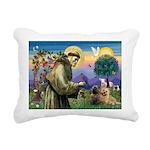 St. Francis Cairn Rectangular Canvas Pillow