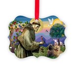 St. Francis Cairn Picture Ornament