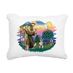St.Francis #2/Catahoula Rectangular Canvas Pillow