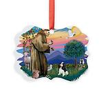 St.Fran #2/ Cavalier (tri) Picture Ornament