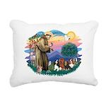 St Francis #2/ Cavaliers Rectangular Canvas Pillow