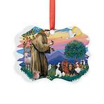 St Francis #2/ Cavaliers Picture Ornament