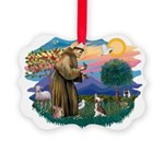St.Francis #2/ C Crested #1 Picture Ornament