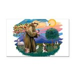 St.Francis #2/ C Crested #1 Rectangle Car Magnet