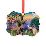 St Francis/Shar Pei #5 Picture Ornament