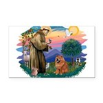 St Francis #2/ Chow (R) Rectangle Car Magnet