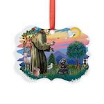 St.Fran #2/ Cocker (black) Picture Ornament