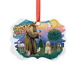 St.Francis #2/ Cocker (buff # Picture Ornament