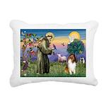 St Francis / Collie Rectangular Canvas Pillow