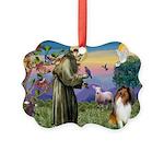 St Francis / Collie Picture Ornament