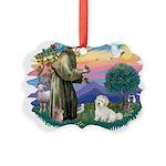 St.Francis #2/ Coton De Tulea Picture Ornament