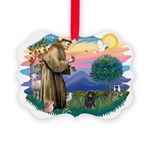 St.Fran #2/ Dachshund (LHBT) Picture Ornament