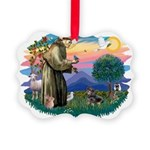 St.Fran #2/ Dachshund (BT) Picture Ornament