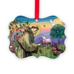 St Francis Doxie Picture Ornament