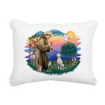 St Francis #2/ Dalmatian Rectangular Canvas Pillow