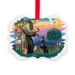 St.Francis #2/ Dobie (cropped Picture Ornament