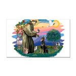 St.Francis #2/ Dobie (cropped Rectangle Car Magnet