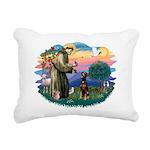 St Francis #2/ Doberman Rectangular Canvas Pillow