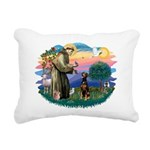 St Francis #2/ Doberman Rectangular Canvas Pillow