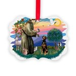 St Francis #2/ Doberman Picture Ornament