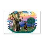 St Francis #2/ Doberman Rectangle Car Magnet