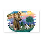 St.Francis #2/ Eng Bull (W #1 Rectangle Car Magnet