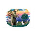St.Francis #2/ Fox Terrier Rectangle Car Magnet