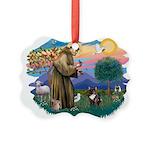 St.Francis #2/ Fr Bulldog (br Picture Ornament