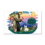 St.Francis #2/ Fr Bulldog (f) Rectangle Car Magnet
