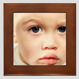 Baby's face - Framed Tile