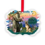 St.Francis #2/ Ger Shep #2 Picture Ornament