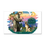 St.Francis #2/ Ger Shep #2 Rectangle Car Magnet