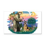 St.Francis #2/ Ger Shep (W) Rectangle Car Magnet