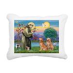 StFrancis-2Goldens Rectangular Canvas Pillow